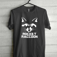 Kaos Tshirt Baju Combed 30S Guardian Of The Galaxy 2 Rocket Racoon
