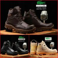 Sepatu Pria Boots Safety Crocodile Cordura Ujung Besi
