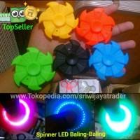 Fidget Spinner / Hand Spiner LED Baling Baling / Bentuk Kipas