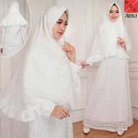 Baju Gamis Wanita / Gamis Putih / Muslim Wanita #80761 STD