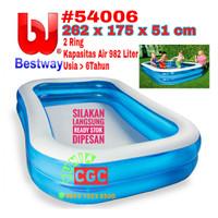 Kolam Renang Kotak Bestway 54006 ukuran 2,6 Meter Bola Mandi Anak