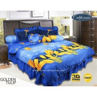 Sprei Rumbai King California motif Golden Tulip