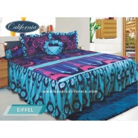 Sprei Rumbai King California motif Eiffel