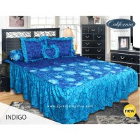 Sprei Rumbai King California motif Indigo