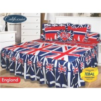 Sprei Rumbai King California motif England