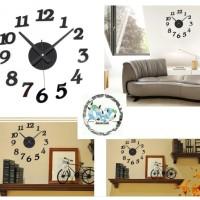 DIY Wall Clock 30-50cm Diameter / Jam Dinding Unik