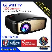 Projector Cheerlux C6 WIFI TV Wireless   Proyektor Infocus Nobar Bola