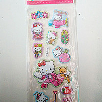 Stiker tempelan sticker laser karakter timbul mainan anak perempuan