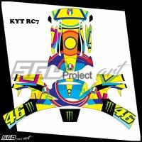 Sticker Decal Helm KYT RC7 Soleluna 2017