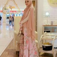 Baju Muslim Syari baju selebgram romantic flower salem  ( gamis + khim