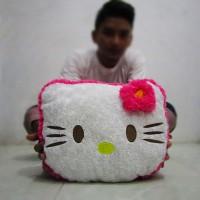 Boneka Bantal Kepala Hello Kitty Pink Snail Mawar