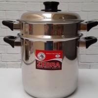 Zebra Double Boiler 20 cm Steaming Pot Panci Tim Stainless Thailand