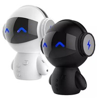2 in 1 Speaker + Power bank Bluetooth Model Robot Mini Lucu Unik
