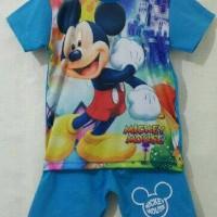 Setelan Karakter Mickey Printing - Baju Karakter - Kaos Karakter