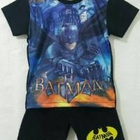 Setelan Karakter Batman Printing - Baju Karakter - Kaos Karakter
