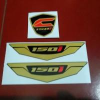 Sticker / Stiker Emblem New Click Vario Fi 150 - 150i Gold