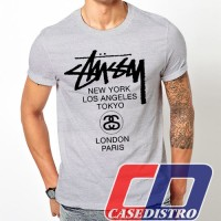 Gildan kaos stussy logo T shirt distro