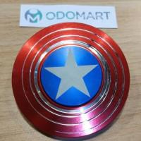 Fidget Hand Spinner Captain America Shield Metal Brass Toys murahhh