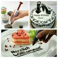 Pen pastry dekorasi kue pen dekorasi spuit kue ulang tahun cup cake