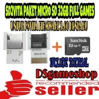 MEMORY CARD PSVITA / SD2VITA PAKET MICRO SD 32GB FULL GAMES PS VITA