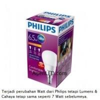 Lampu Bohlam LED Philips warm white/kuning 7 watt 7watt 7w 7 w Bulb