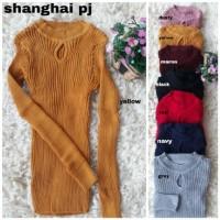[Sanghai pj rajut RO] blouse wanita rajut var color