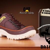 Sepatu caterpillar Safety bergaya outdoor performace Top banget - Cokelat