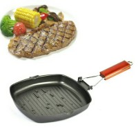 Square Grill Pan / Teplon Non Stick/ Frying Pan wajan mini Panci