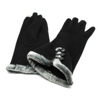Sarung Tangan Wanita Touch Screen Winter Women's Gloves - Black