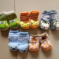 6 Pcs Kaos Kaki Bayi-Petite Mimi Boys - 6-12 Bulan Motif Animal