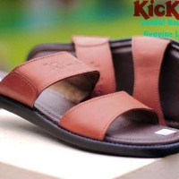sandal kickers round concept 100% leather 3 warna sz 39-44