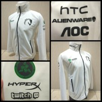 Jaket Liquid White Official || Jacket Hoodie Miracle Baju Dota