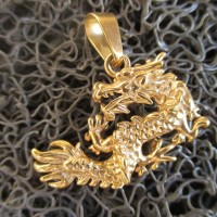 VV288 Liontin Titanium NAGA / Dragon GOLD Plated