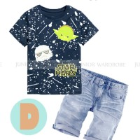 JW 8 D Jeans Set | Baju Anak Import | Star Wars