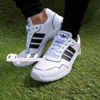 Sepatu Kets Wanita Adidas Alligator Putih List Hitam