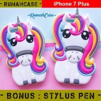 iPhone 7 PLUS Rainbow Pony 3D Soft Case Casing Cover Sarung Lucu Cute
