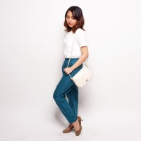 Celana Panjang Wanita Printed Pants Katun Motif Hijau Biru