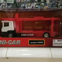 Diecast Truck Kinsmart Uni-Car Scania P-Series Transporter
