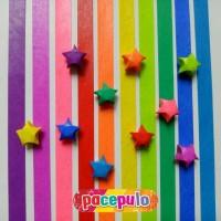 K-07 Kertas Origami Bintang Glitter / Glitter Paper Star
