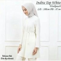Indira Top White | Atasan Muslim | Blouse Muslim