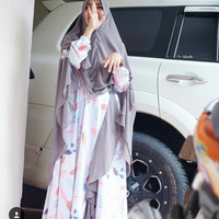Produksi Baju Muslim Syari selebgram gamis funix monalisa (gamis set)