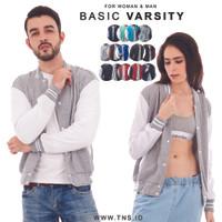 JAKET BASIC VARSITY POLOS PRIA & WANITA M-XL  promo