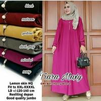 Gamis Muslim Jumbo Polos Busui Jersey / Maxi Dress Big Size XXXL Murah
