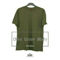 Kaos Polos 30s Olive Green Misty