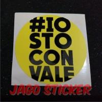 Sticker / Stiker Cutting Visor Helm Motogp VR 46 Rossi Iostoconvale
