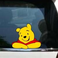Cutting Sticker / Stiker Cutting Kaca Mobil Winnie The Pooh Smile Big