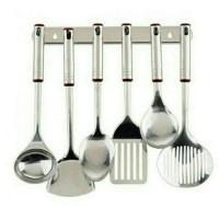 kitchen sutil centong oxone Stainless Steel kitchen tools set ox-963 - Hitam