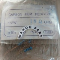 Resistor 18 ohm 1/2what 5% isi 100 pcc