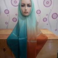 Jilbab segiempat ombre gradasi mezora murah online tomohon scarf