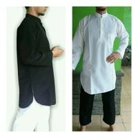 baju koko baju gamis pria putih polos hitam polos